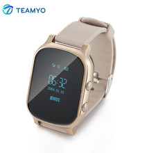 Teamyo GPS Tracker Smart Watch T58 for Kids Children GPS Bracelet Google Map Sos Button Tracker Gsm GPS Locator Clock Smartwatch