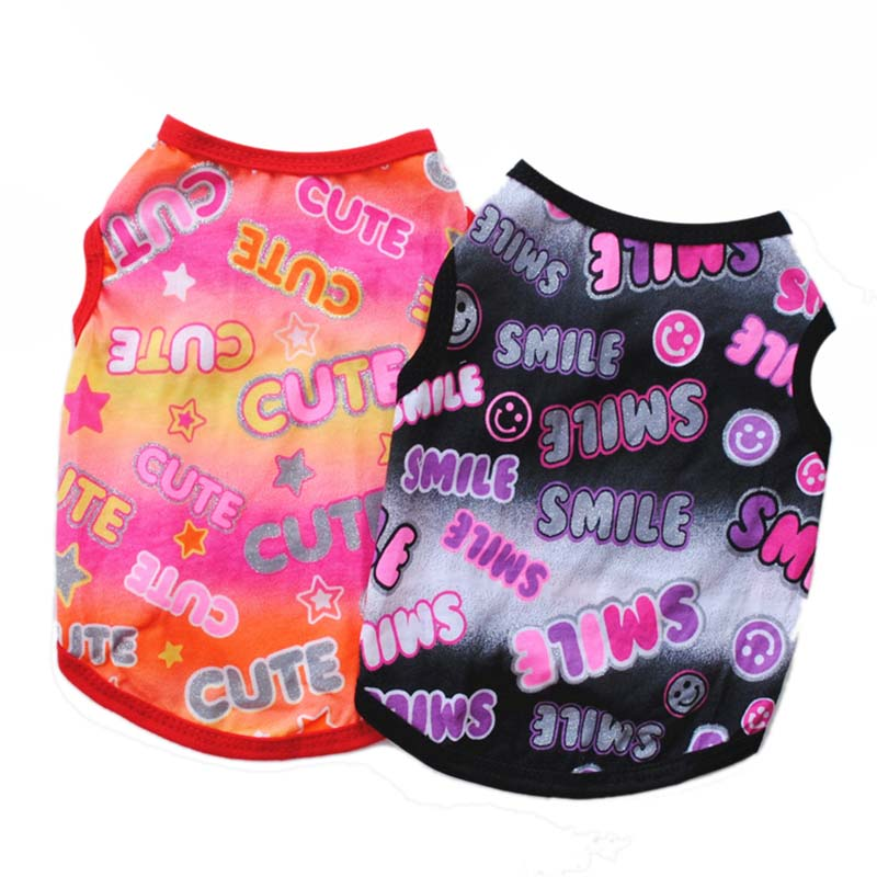 Puppy Clothes Fashion Printed Summer Breathable Thin Cotton Pet Dog Vest T Shirt for Small Dogs Cats Chihuahua Accessories1