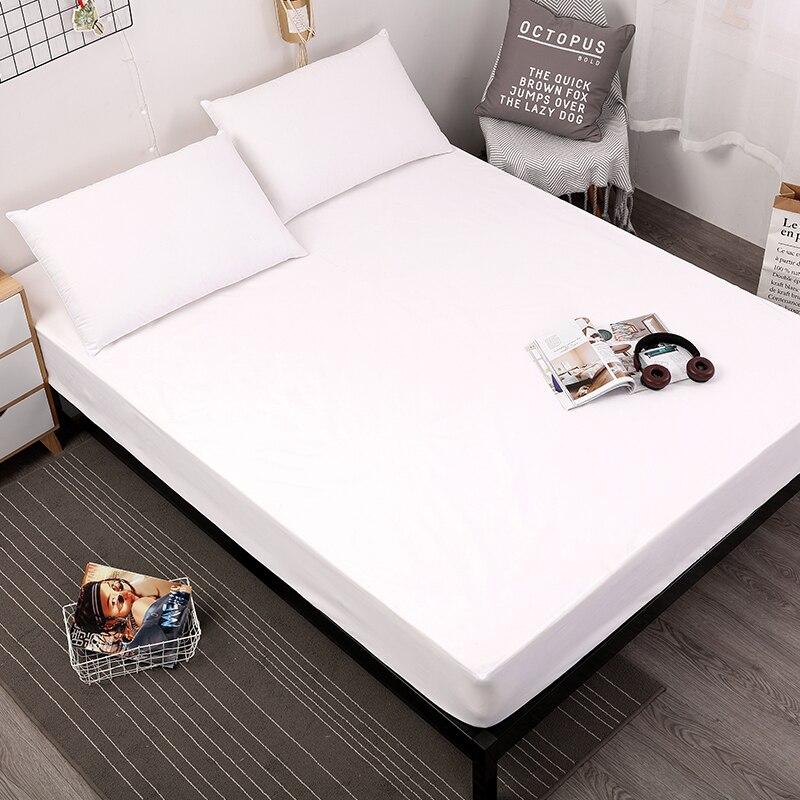 MECEROCK Color sólido colchón de la cama cubierta impermeable Protector de colchón Pad sábana de agua separada ropa de cama con elástico