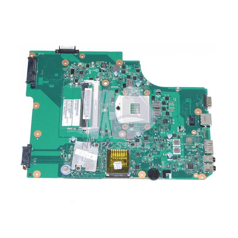 V000185560 Main Board For Toshiba Satellite L505 Laptop motherboard HM55 GMA HD DDR3 h000042190 main board for toshiba satellite c875d l875d laptop motherboard em1200 cpu ddr3