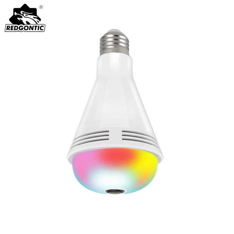 10 pièces caméra IP ampoule 360 panoramique 960 P lumière caméra HD Bluetooth musique haut-parleur wifi LED lumières coloré Vision nocturne sécurité
