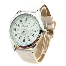 Gerryda male Vogue digital Leather-based belt quartz Wrist Watch White