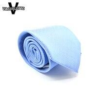 Sreddy Polyester Tie Men Ties Gravatas Slim Cravate Blue Striped Luxury Brand Gift Party Business Neckties