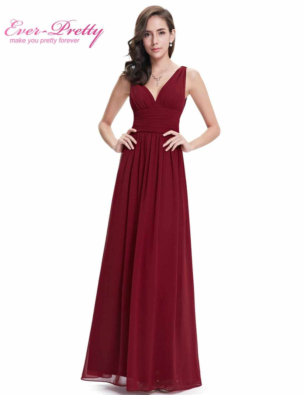 f1a8450457 Burgundy Long Purple Bridesmaid Dresses Vestido Fast Shipping EP09016NB  2018 Women's Sexy Party Dress Chiffon A Line Gowns