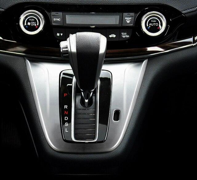 For Honda CR V CRV 2015 2016 ABS Pearl Chrome Inside Interior Gearshift  Knob Cover