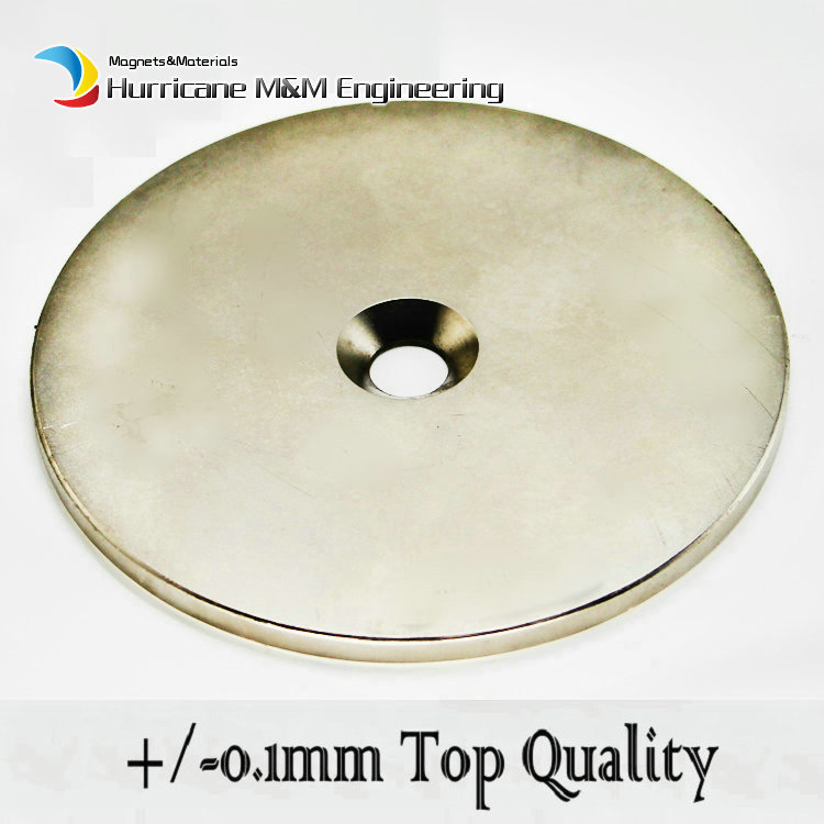 27kg Pulling NdFeB Countersunk Magnet Dia 100x5 (+/-0.1)mm M10 Screw Countersunk Hole Strong Neodymium Permanent Magnet 1 pcs 10050045w cylindrical ndfeb magnet silver 5 pcs