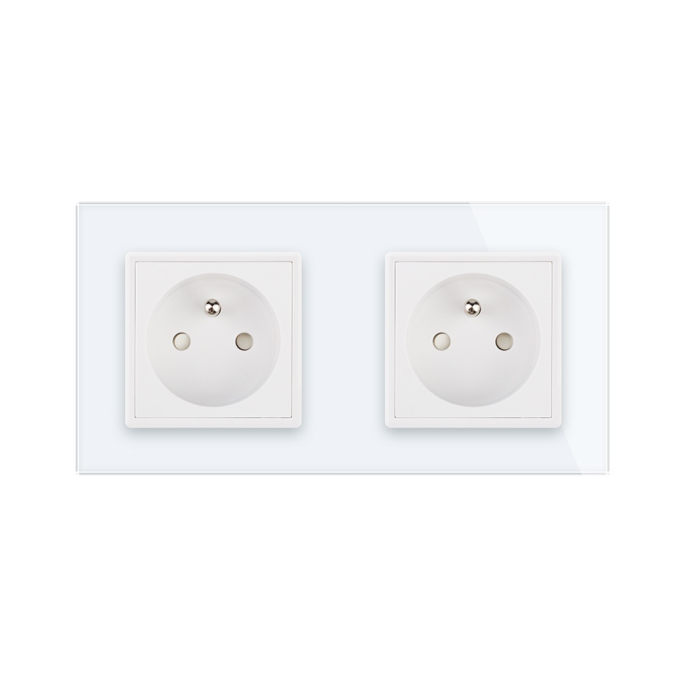 New US Standard Power Socket, White Crystal Glass Socket , 16A ...