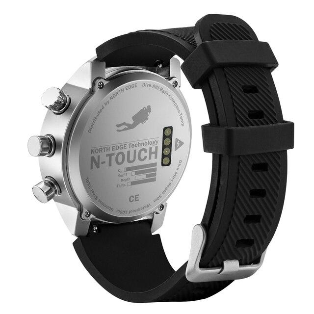NORTH EDGE Men Smart Sport Watch Depth Gauge Altimeter Barometer Compass Thermometer Pedometer Digital Watch Diving Climbing New 2