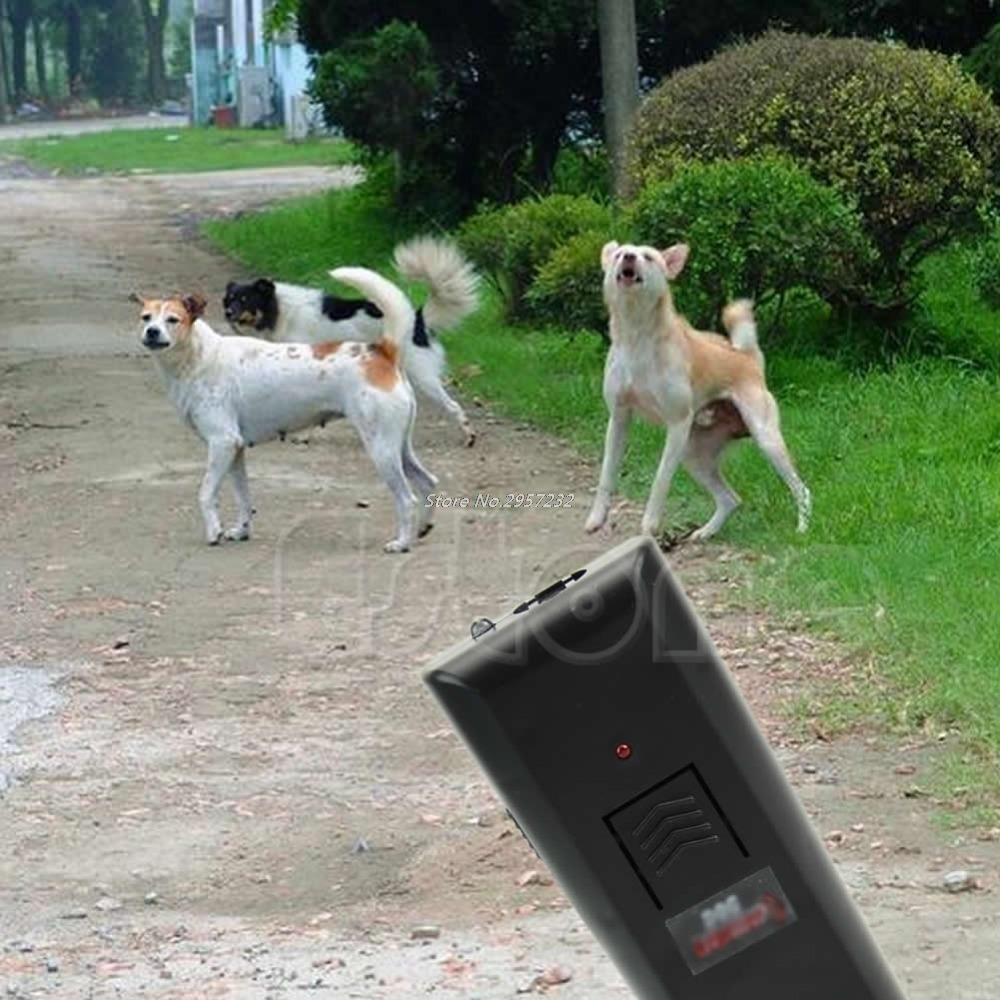 Ultrasonic Anti-Bark Aggressive Dog Pet Repeller Barking Stopper Deterrent Train-S127 yy56