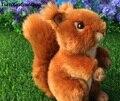 Adorable ardilla de dibujos animados alrededor de 15 cm ardilla marrón peluche muñeca suave juguete de bebé Regalo de Cumpleaños w0926