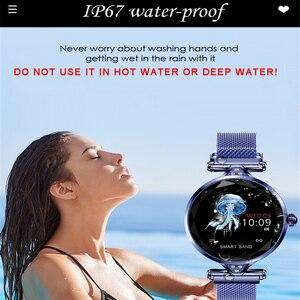 Image 4 - Greentiger ליידי אופנה H1 חכם שעון נשים Bluetooth Waterproof קצב לב צג גשש כושר Smartwatch צמיד