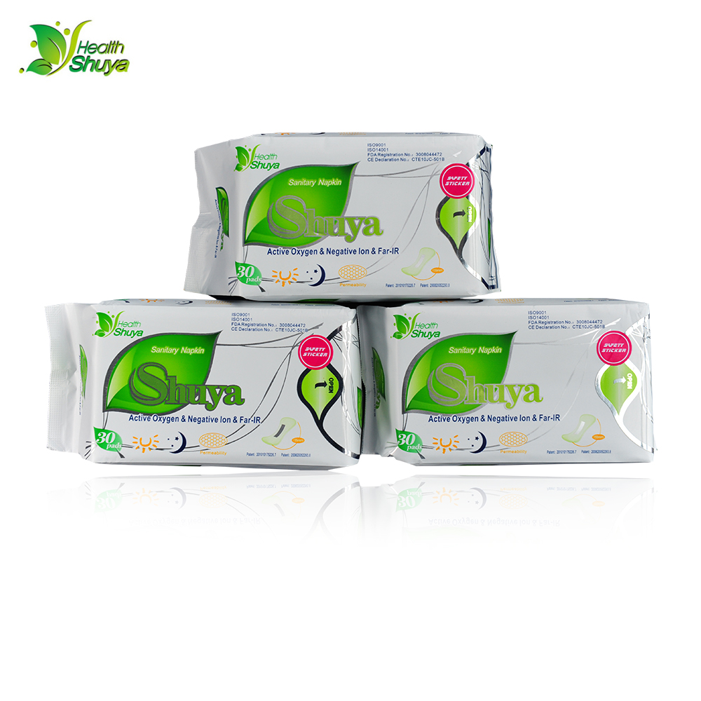 60pieces=2packs shuya anion sanitary napkin anion pads anion panty liner feminine hygiene products menstrual pad 60piece 2 pack lot anion sanitary napkin shuya menstrual pads women health care love anion pads sanitary towel sanitary pads