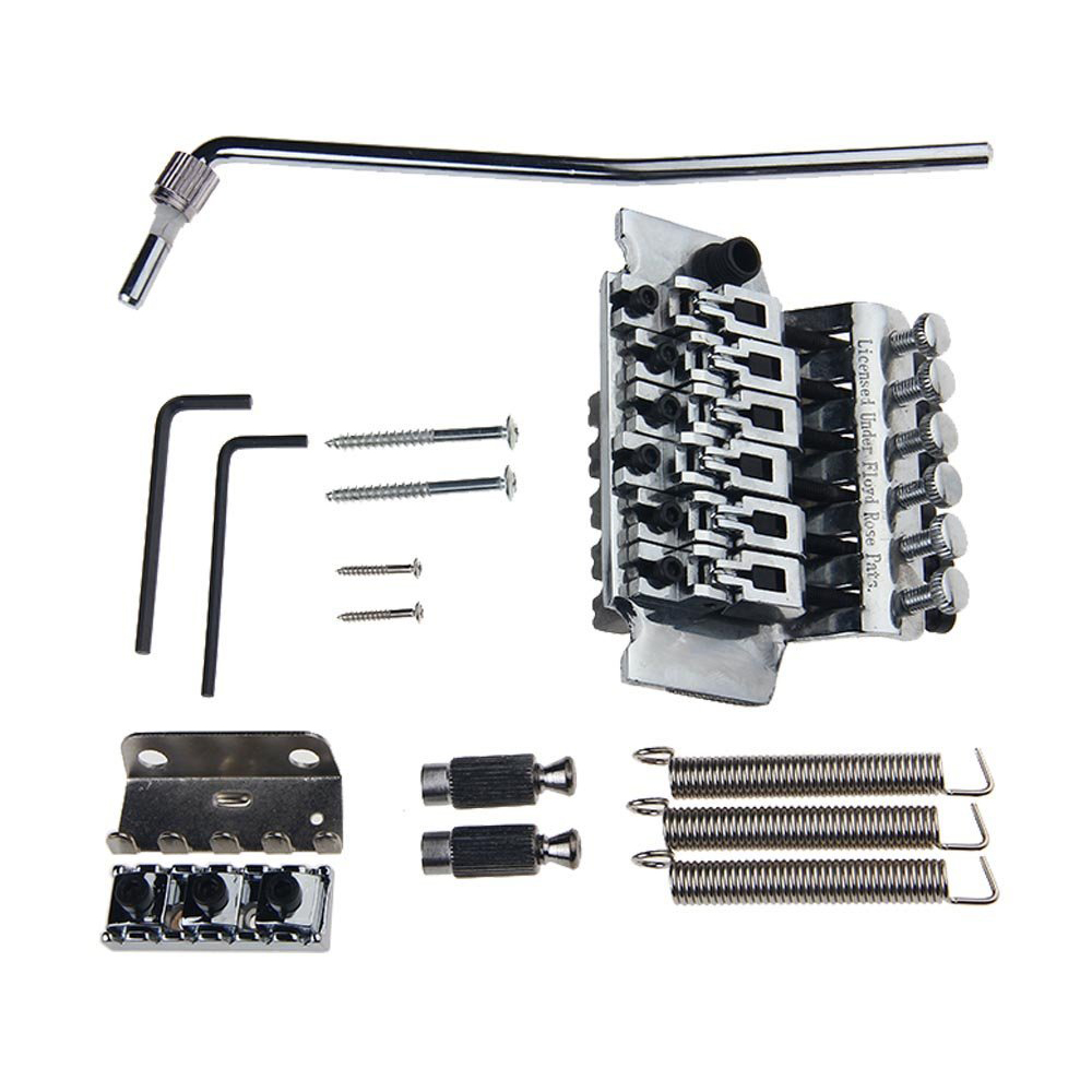 Double Locking Tremolo System Bridge For Electric Guitar Floyd Rose Parts Silver