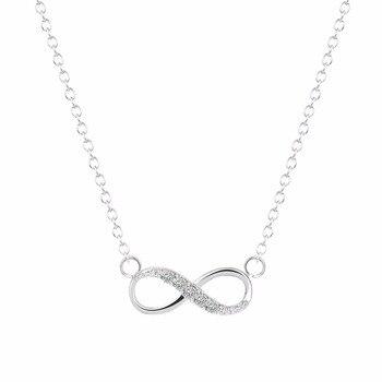 Kinitial 2pcs New Infinity Cross Crystal Dangle Bracelet Necklace Sets Bridal Wedding Party Jewelry Set Pendientes Mujer Bijoux 2