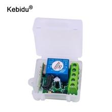 Kebidu 433 315mhzのワイヤレスリモートコントロールスイッチ学習コードトランスミッタリモートdc 12v 1CHリレー433受信機モジュール