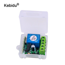 Kebidu 433 mhz interruptor de controle remoto sem fio para código aprendizagem transmissor remoto dc 12v 1ch relé 433 mhz módulo receptor