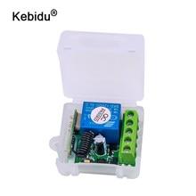 Kebidu 433 Mhz interruttore telecomando senza fili per l'apprendimento del trasmettitore di codice modulo ricevitore remoto DC 12V 1CH relè 433 Mhz