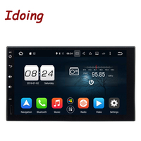 Idoing 2Din Steering Wheel Android6 0For Universal Car DVD Player GPS Navigation Double 8Core 2G RAM
