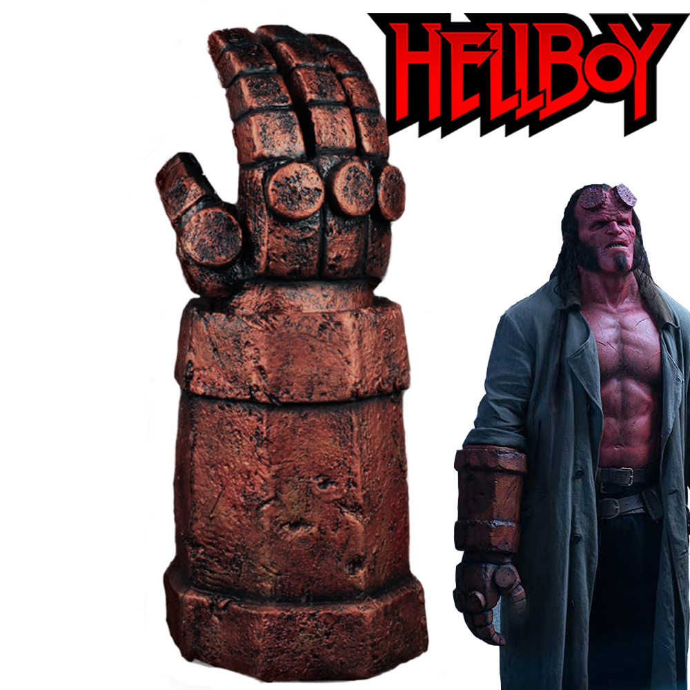 Hellboy guantes Rise Of the Queen Cosplay látex brazo guantes arma Halloween fiesta accesorios DropShipping
