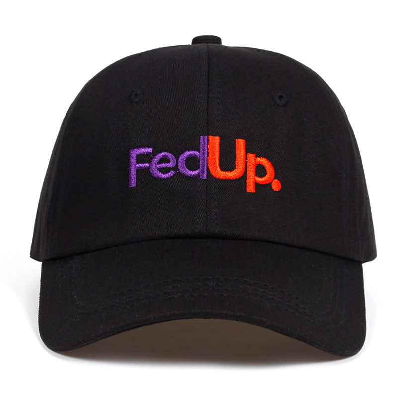 FedUP. embroidery dad hat Cotton%   Baseball     Caps   For Men Women Adjustable Hip Hop snapback golf   cap   hats Bone Garros Casquette