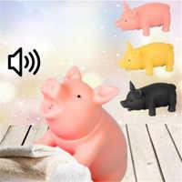2 stücke Kawaii Pet Welpen Liefert Chew Squeaker Squeaky Rubber Sound Schwein Lustige Hund Spielzeug