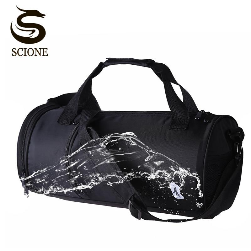Waterproof Nylon Men Travel Bags Luggage Travel Duffel Bags Shoulder Handbag for Male Crossbody Bags Solid Black Mens Travel Bag