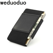 Weduoduo 2019 New Style Credit Card Holder Portable Mini Cases Soft Elastic Men Wallet Fashion Business holder