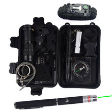 Survival kit Set Travel Multifunction First aid SOS EDC Camping Emergency Supplies Tactical for Wilderness laser outdoor tool wilderness first aid equipment case