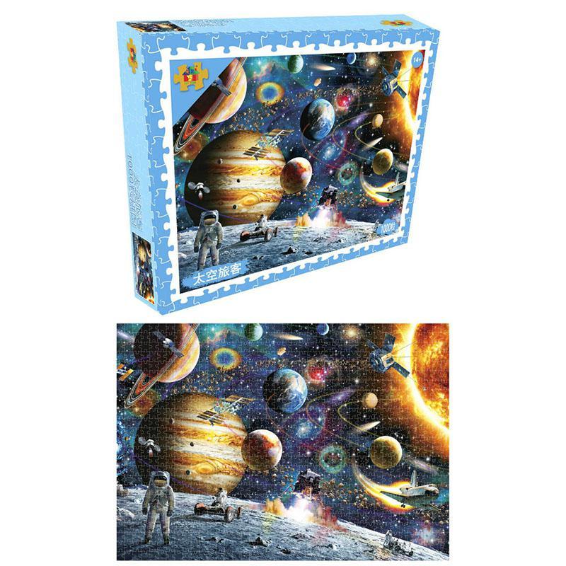 1000 peças quebra-cabeças brinquedos educativos cenário espaço estrelas puzzle educativo brinquedo para crianças/adultos natal presente do dia das bruxas