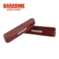 Baradine 473 Cork Road Bike Bicycle C Brake Caliper Brake Shoes Replacement Pads For Carbon Fiber