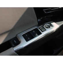 For Honda Odyssey 2015 2016 Accessories ABS Plastic Chrome LHD Car Styling Door Window Lifter Adjust Button Cover Trim beler new 7pcs chrome car interior door window switch lift button cover trim for honda cr v vezel accord civic odyssey 2014 2015