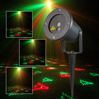 DHL ship Christmas Light Outdoor Garden Mini Projector Laser 12Patterns Red Green Waterproof Wedding Decoration Laser lighting