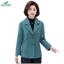 Autumn middle-aged women Outerwear new large size XL-5XL mother loaded casual small suit short jacket coat clothing OKXGNZ AF122