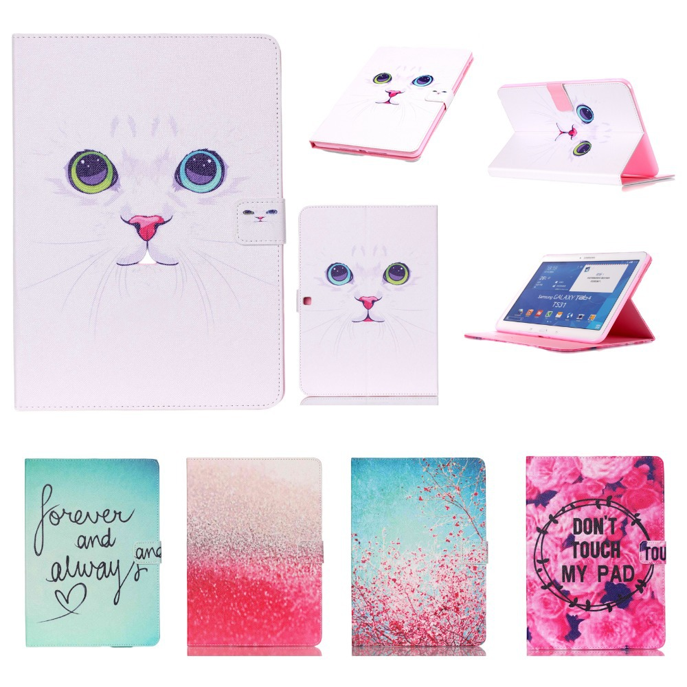 Customized! For Cover Samsung Galaxy Tab 4 10.1 T530 T531 T535 PU Leather Silicone Smart Flip Case w/Screen Protector+Stylus Pen ultra thin smart flip pu leather cover for lenovo tab 2 a10 30 70f x30f x30m 10 1 tablet case screen protector stylus pen