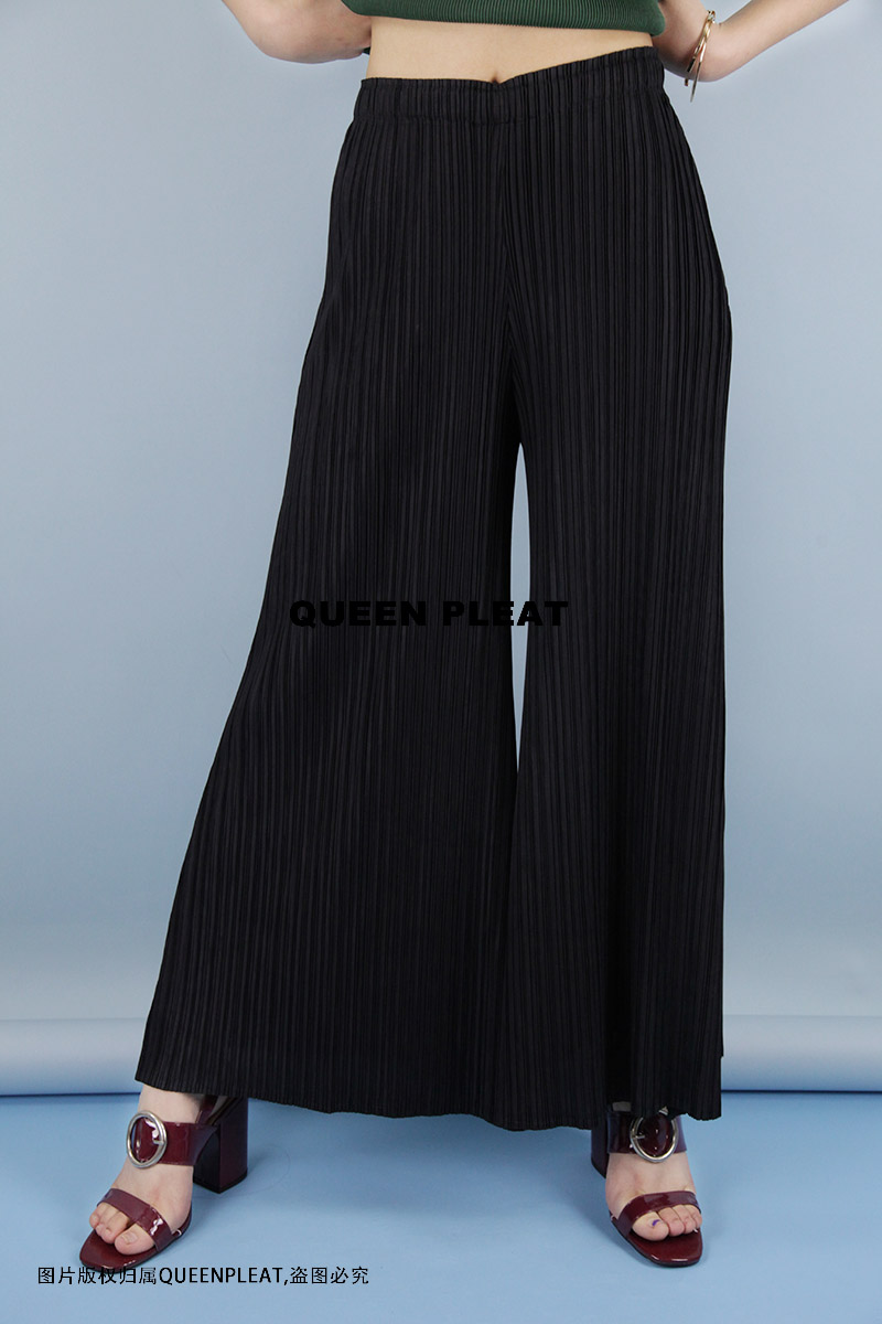 pleated   wide     leg     pants   expansion   pants   clothing loose pleated   pants   fold trousers free shipping