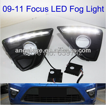 2009-2011 year For  Ford Focus 2 LED DRL LED Fog Daytime Running Light TWV1 2009 2011 year for ford for focus 2 led head light with projector lens sn
