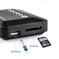 JEDX Car 3D Full HD Media player 1080P Mini Multi Media Player w/Remote Control HDMI W/USB/SD Video Player With Car adapter