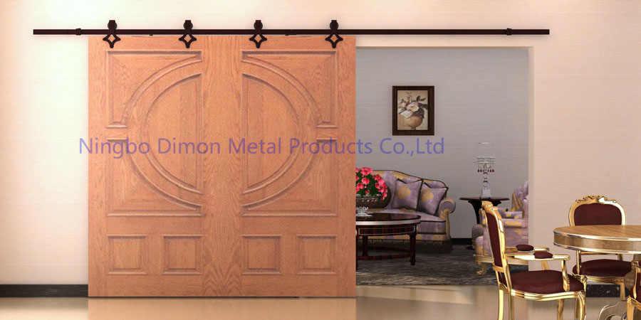 Dimon ที่กำหนดเองเลื่อนประตูฮาร์ดแวร์ไม้เลื่อนประตูฮาร์ดแวร์แขวนล้ออเมริกาสไตล์เลื่อนประตูฮาร์ดแวร์ DM-SDU 7205