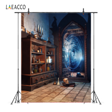 Laeacco Magic Mirror Old Bottle Shelf Grunge Vintage Portrait Photography Backdrop Photo Background Baby Photophone Photo Studio