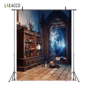 Image 1 - Laeacco Magic Mirror Old Bottle Shelf Grunge Vintage Portrait Photography Backdrop Photo Background Baby Photophone Photo Studio