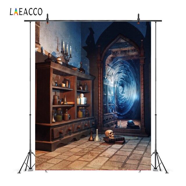 Laeacco مرآة سحريّة قديمة زجاجة الجرف الجرونج خمر صورة التصوير خلفية الصورة خلفية الطفل Photophone استوديو الصور