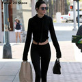 New Tops Selling Kendall Jenner Women Girl Hoodie Short Sweatshirt Long Sleeve Crop Jumper  Pullover Tops Free Shipping