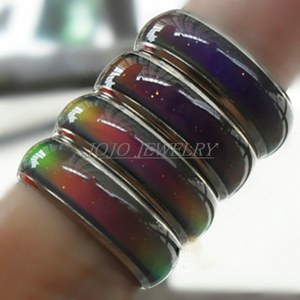 6mm width Mood Ring wedding rings with the temperature change color ring magic rings for women/men