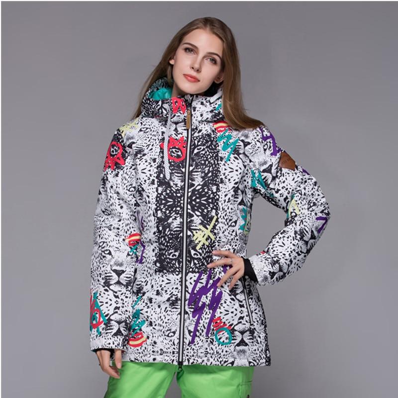 Winter Gsou Snow Brand Snowboard Jacket Women Ski Jacket Coat Abrigos Mujer Invierno 2017 Veste de Ski Femme principessa