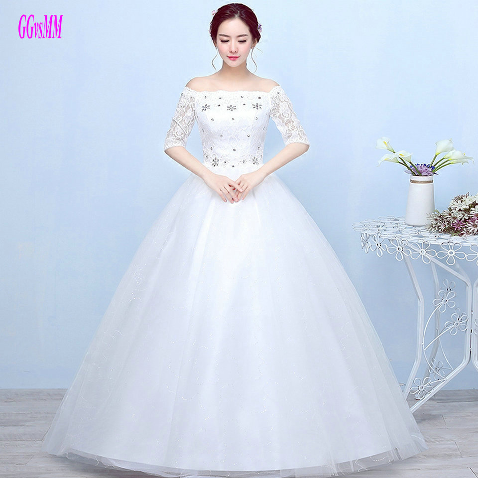 New White Ivory Wedding Dresses Ball Gown Applique Bridal: Cheap Ivory Wedding Gowns 2019 New Plus Size Formal Long