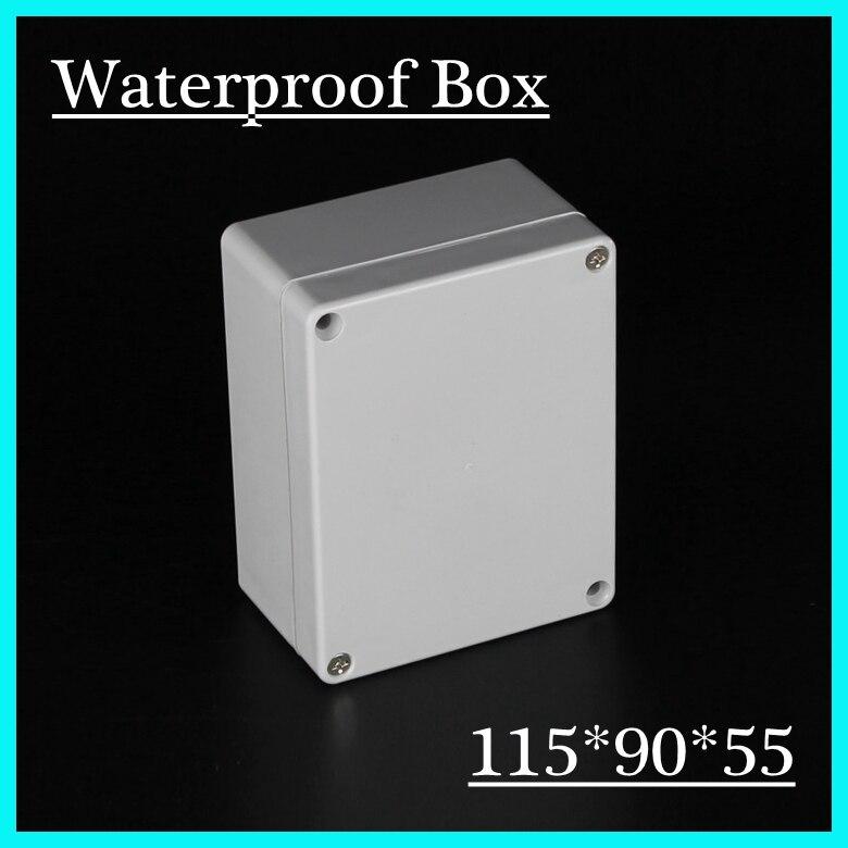 (1 piece/lot) 115*90*55mm Grey ABS Plastic IP65 Waterproof Enclosure PVC Junction Box Electronic Project Instrument Case 65 95 55mm waterproof case