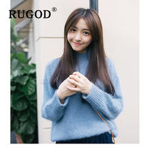 RUGOD Korean Cashmere Sweater Women Fashion Ruturm soft thicked Warm Sweaters Female Winter sweet ladies long sleeve pullovers