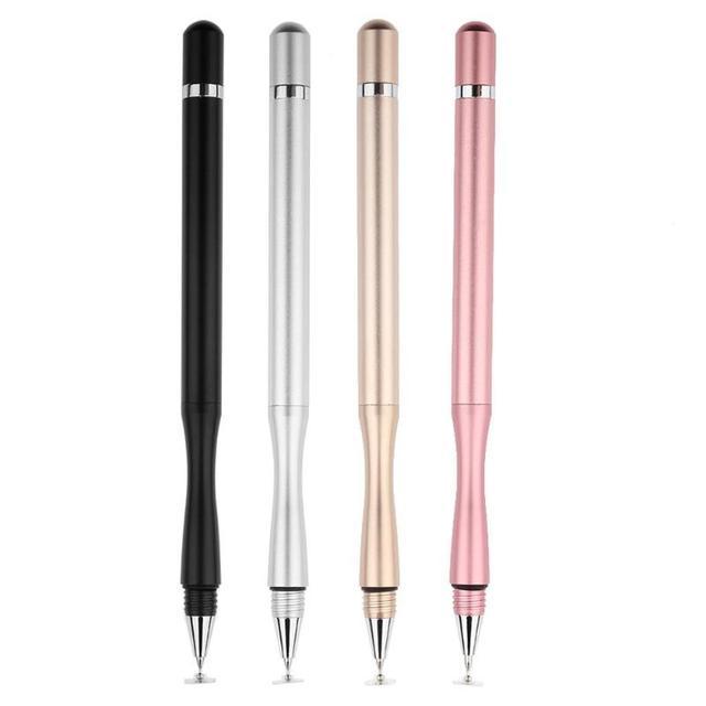 1 pc Capacitivo Stylus caneta de Toque da Caneta Lápis lápis de Desenho Da Tela de Metal ouro Prata preto para iPhone ipad para Samsung tabet PC