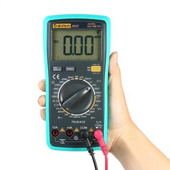 Multímetro Digital probador de RMS instrumento eléctrico Detector de temperatura DC/AC voltaje corriente capacitancia diodo de resistencia