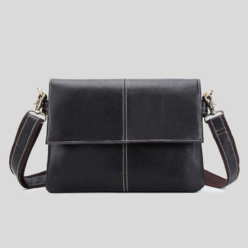 YISHEN Fashion Genuine Cow Leather Men Crossbody Bags Business Document Messenger Bag Ipad Bags Men Casual Shoulder Bag MSXY1032